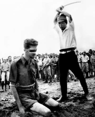 Australian soldier being executed by the japanese in second world war