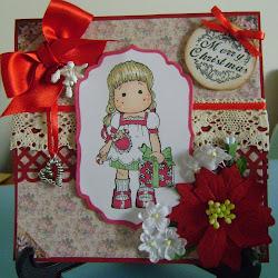 magnolia tilda, tilda with presents, by jackie hugs x