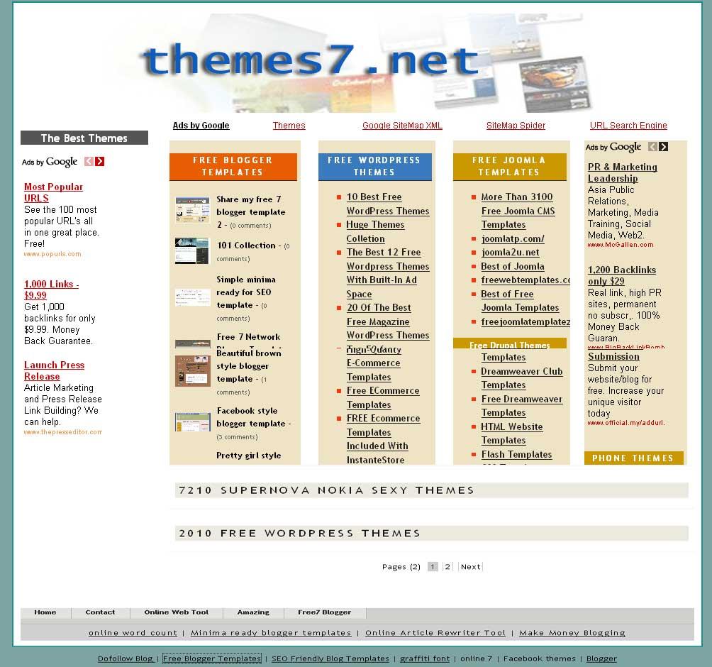 Portal Blogger Templates Magazine & Portal Blogspot Themes
