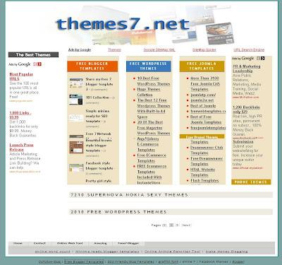portal blogger template ecomerce