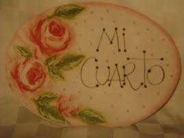 """CARTEL PARA EL CUARTO """"SHABBY CHIC"""""""
