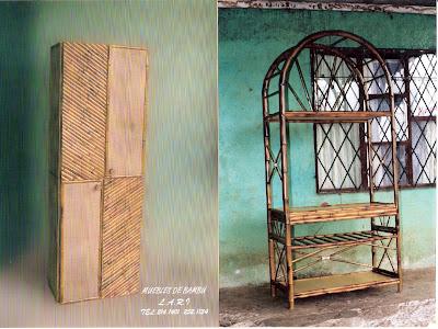 Muebles lari muebles de bambu for Muebles bambu