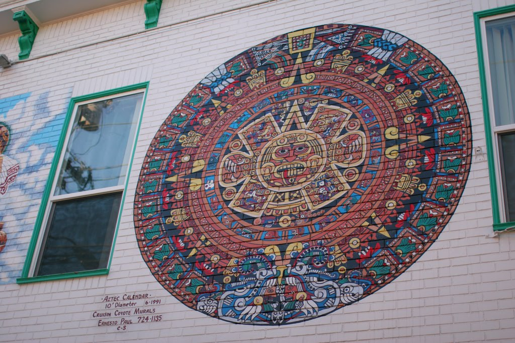 Aztec calendar meaning search results calendar 2015 for Aztec mural tattoos