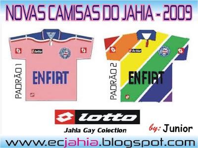 Novas camisas do Bahia (Jahia) 2009