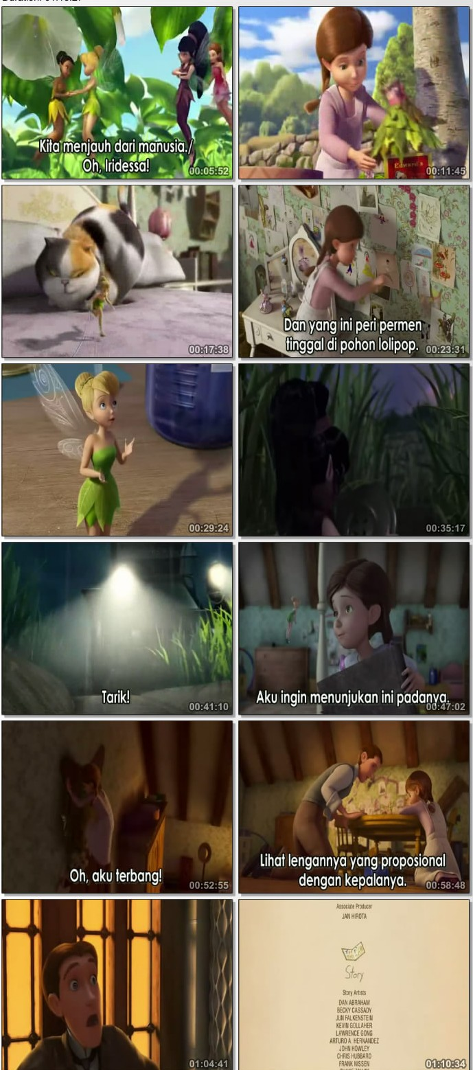 Download Film DVD TinkerBell Great Fairy Rescue Subtitle Indonesia - Persahabatan peri dan manusia