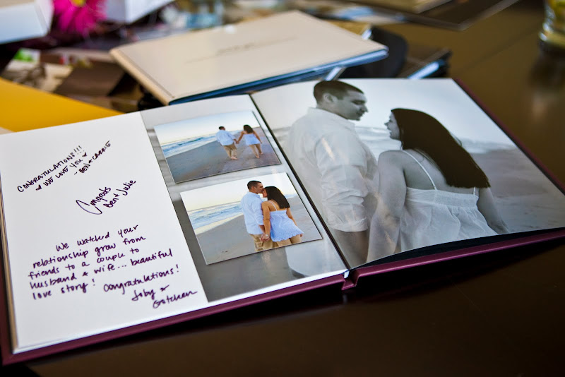 How about a guest book album of your engagement session
