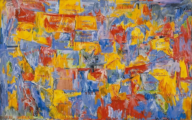 Jasper Johns, Map, 1961 in the Collection of MoMA