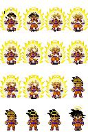 Sprites Dragon Ball Z compatível com Rm xp Goku_transformao