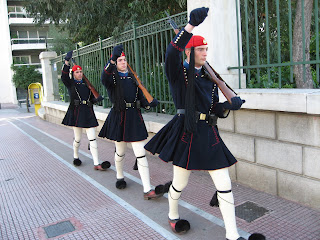 Evzones changing the guard, December 2008