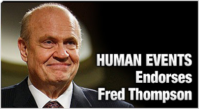 Human Events endorses Fred Thompson