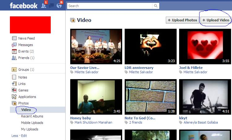 how to find uploaded videos on facebook mobile