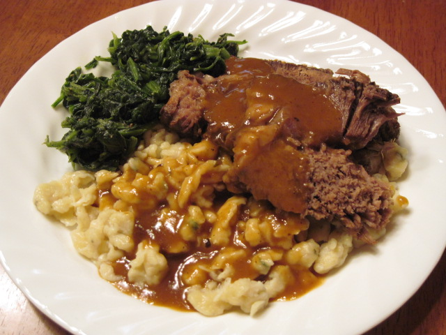 Sauerbraten with Thyme Spaetzle Recipe