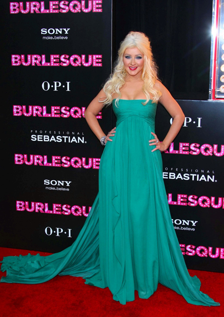 christina aguilera burlesque shoes. At the premiere of Burlesque