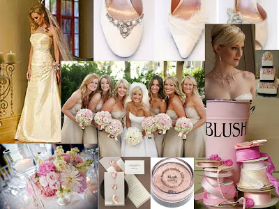 Blush and Champagne Wedding Inspiration Board