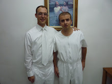 This is Ermal, just before baptism!