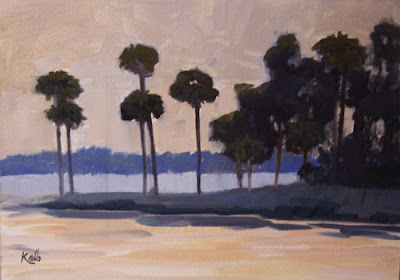 Florida landscapes paintings by Carol McArdle. Oil and acrylic
