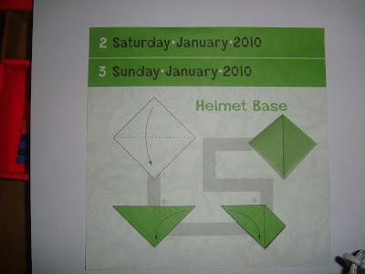 tuto helmet base origami