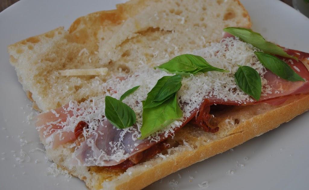 G raldine en cuisine sandwich jambon fum paremsan tomates s ch es et basilic - Cuisiner les tomates sechees ...