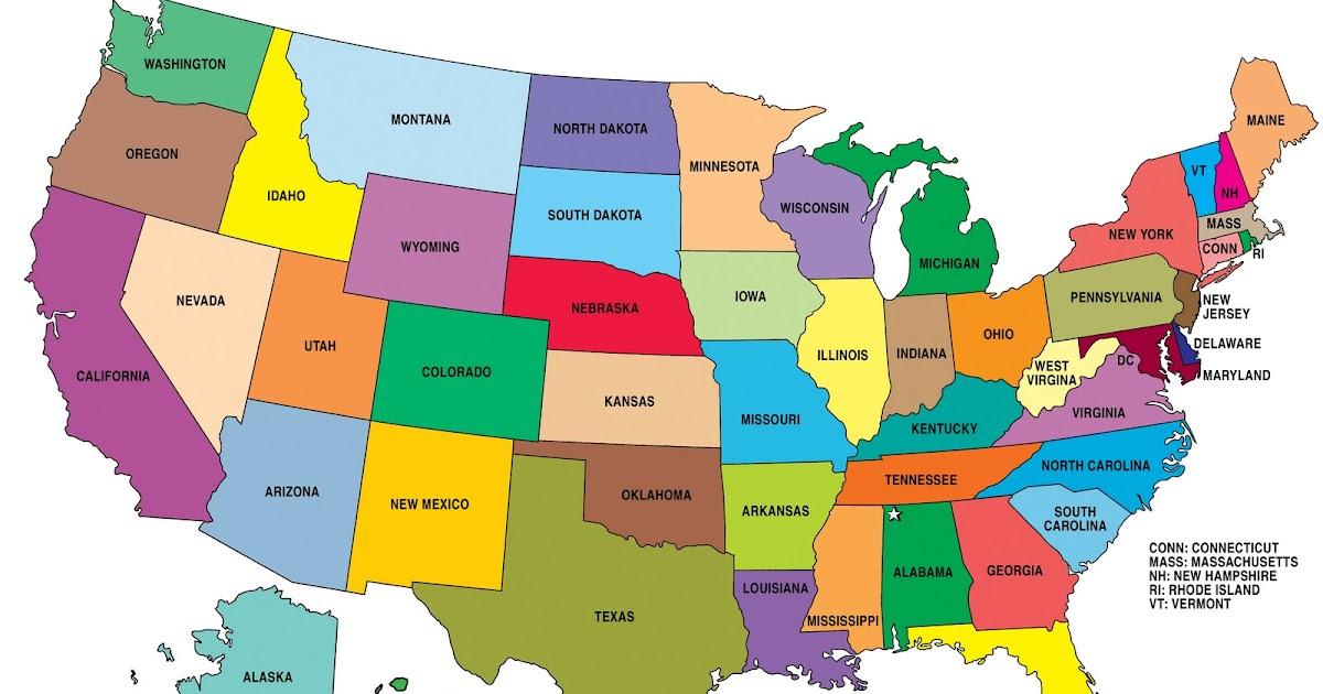 English is Fun!!!: U S A map