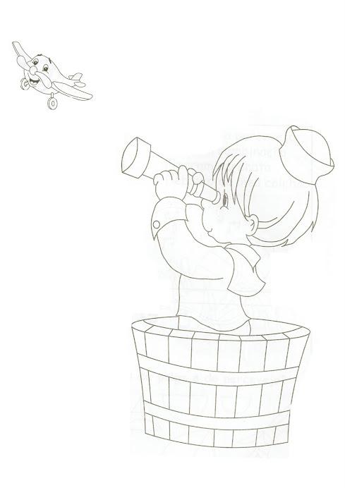 Desenho Menino Marinheiro