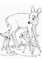 Planse colorat Bambi