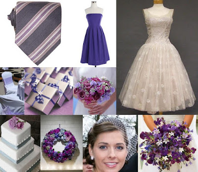 Tulle ivory lavender and silver wedding dress from Vintageous