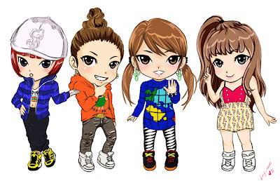 "Aju-Kpop: 2NE1 &quotChibi"" K-"