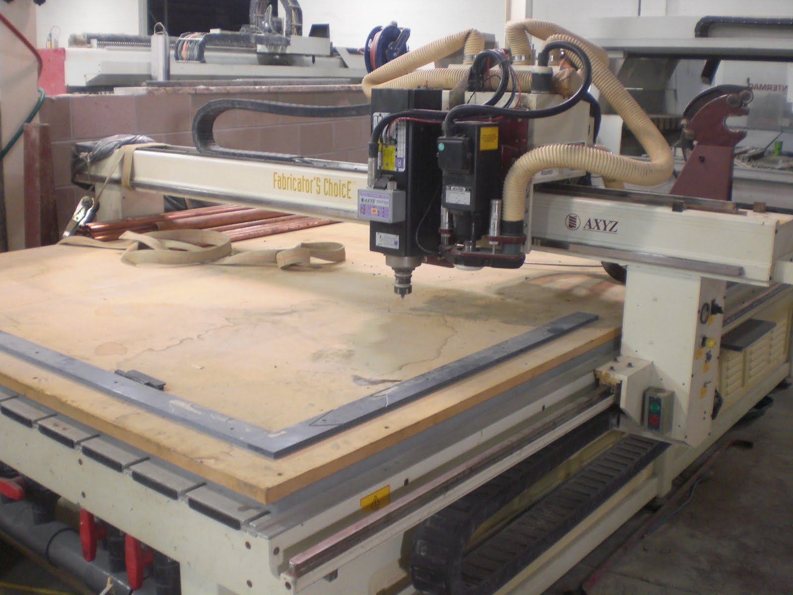 Used Stone Machinery: 2001 AXYZ 7012 Wood working CNC ...