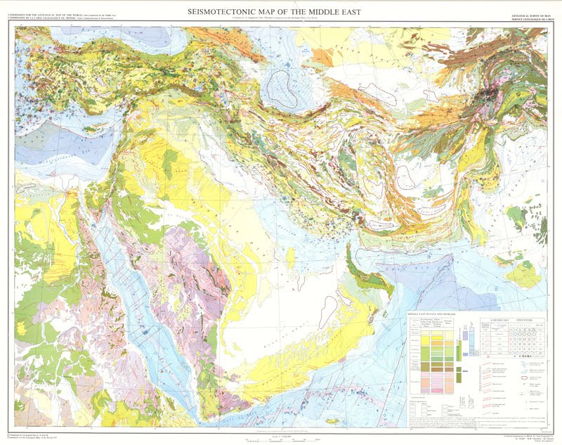 Structural Geology Geological map of Middle East and Arabia
