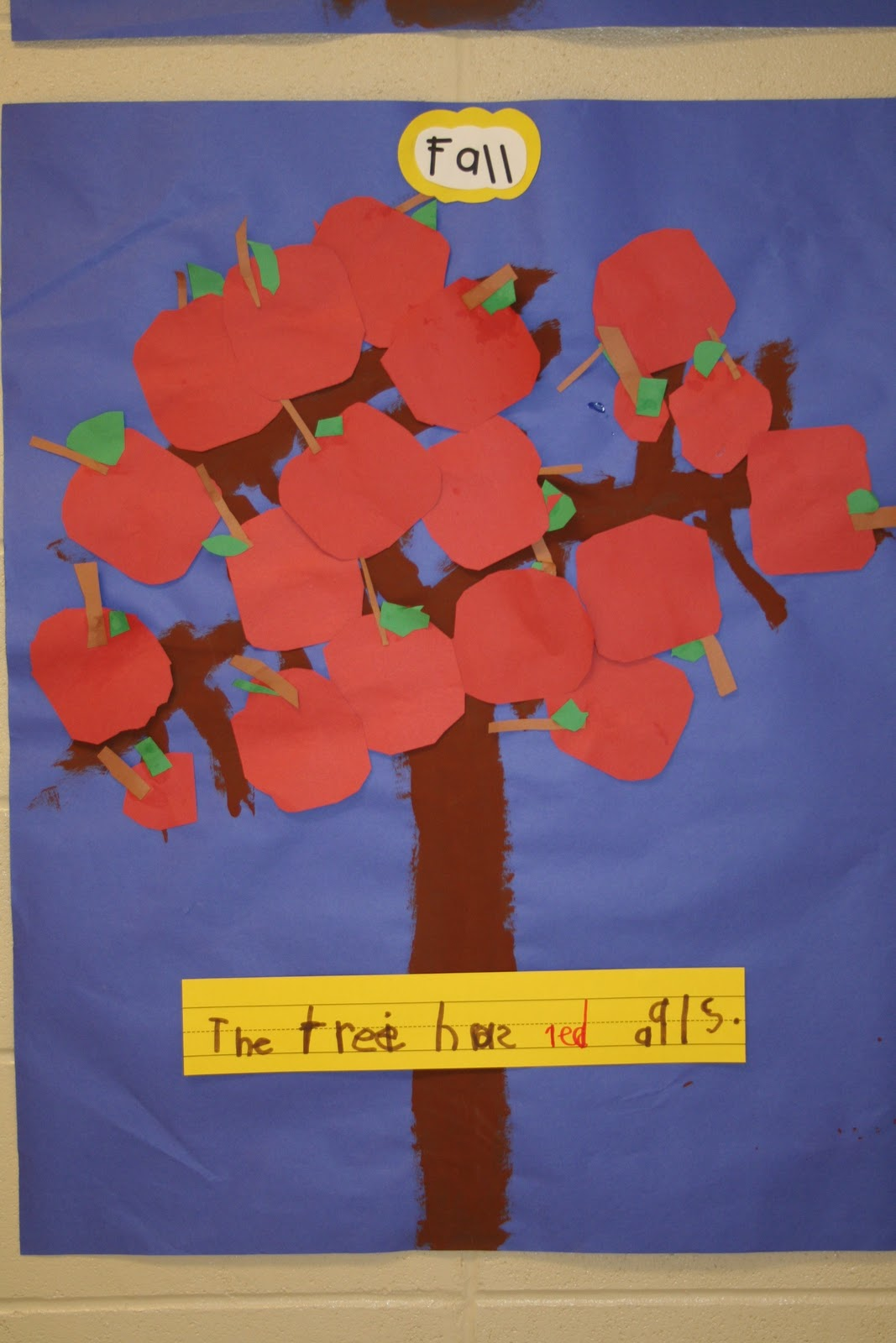Mrs lee 39 s kindergarten apples apples apples for Apple tree mural