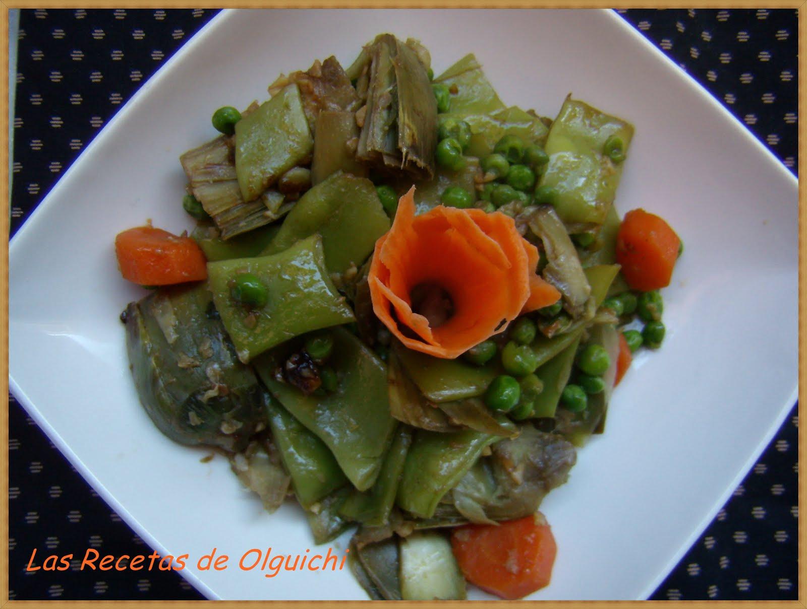 Menestra de verduras fc las recetas de olguichi - Como preparar menestra de verduras ...
