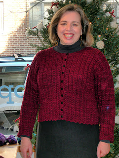 Kathy's sweater knit in Koigu's Kersti yarn