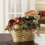 Fruit & Kalanchoe Basket
