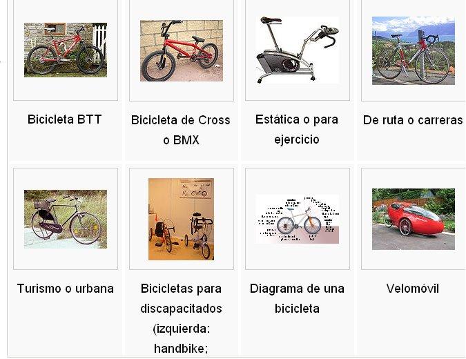 Clases de Bicicleta