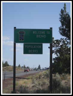 Bend Oregon Population Sign