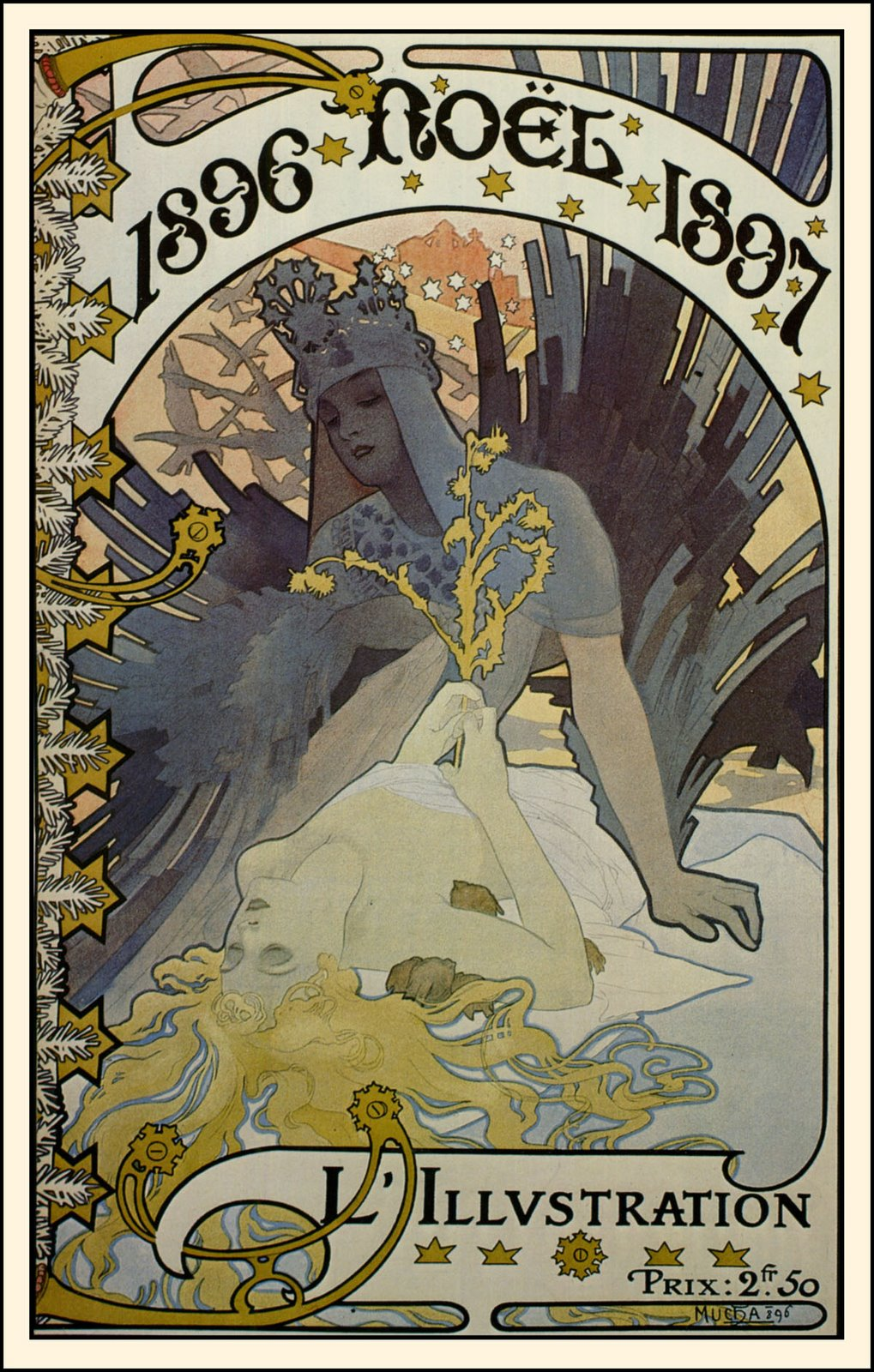 Alphonse Mucha Art Deco Illustrations