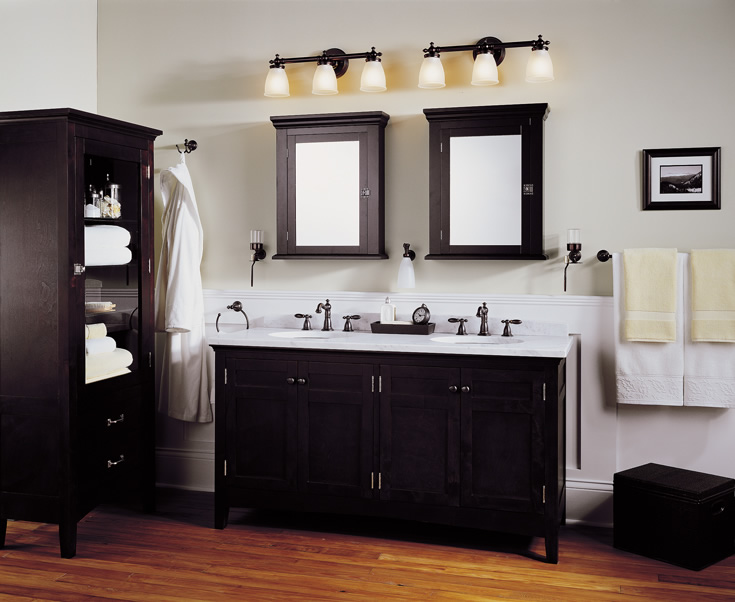 Bathroom Vanity Lighting Above Mirror Simple Brown Bathroom Vanity - Bathroom vanity mirror and light ideas
