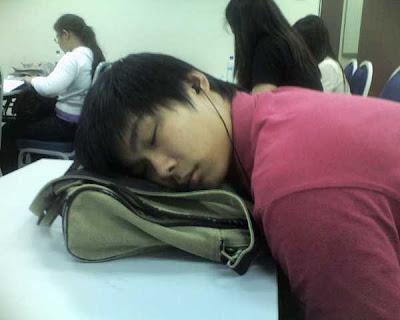 Kid Sleeping In Class