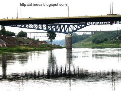 мост в Гродно, Неман