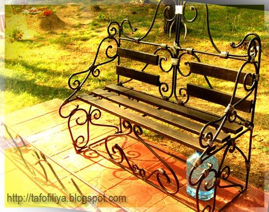 скамья, лавка, красивая скамья, скамейка