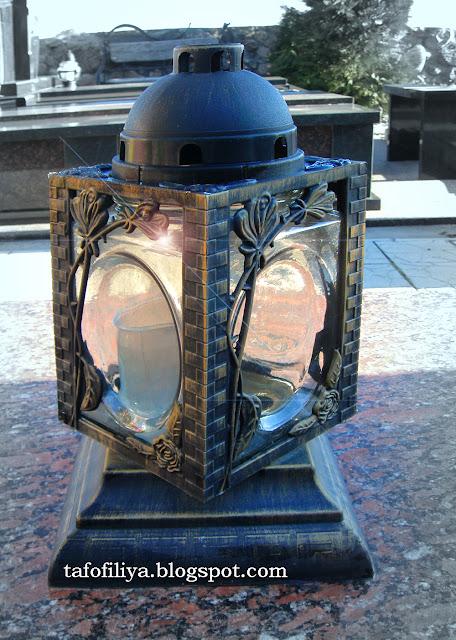 лампадка, лампада, лампада на кладбище