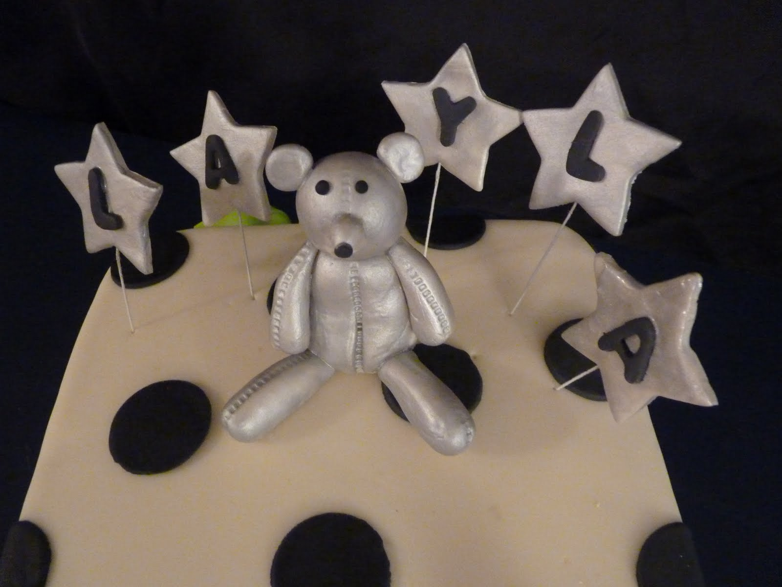 silver teddy bear