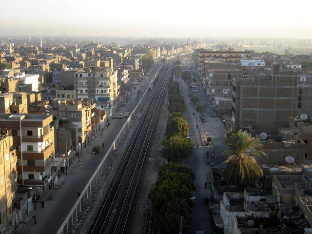Via de tren en Luxor.