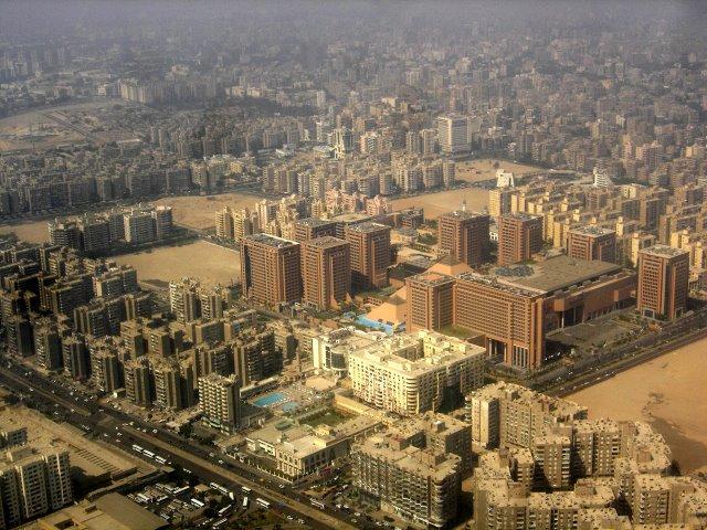 Vista aérea del Cairo.