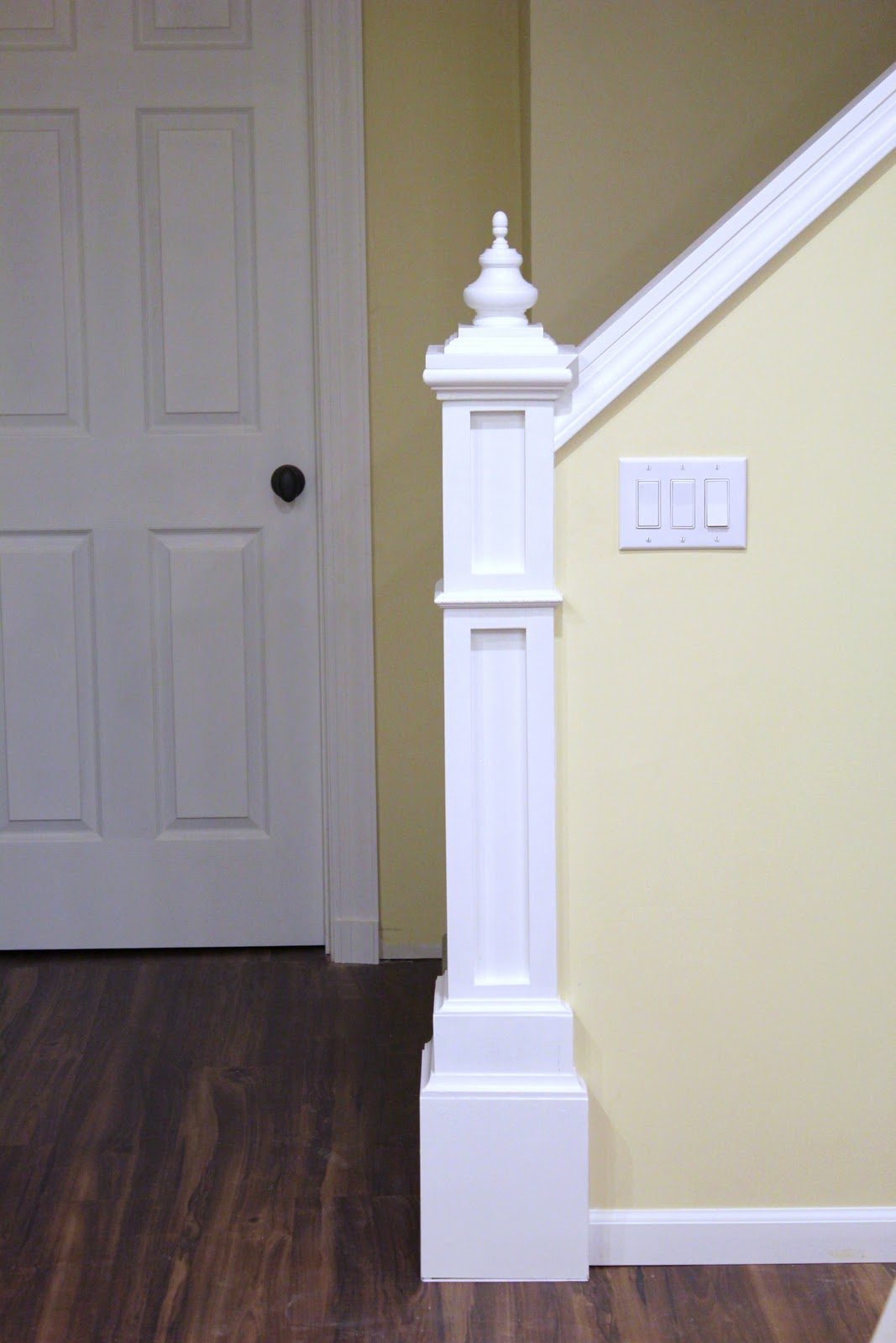 Build Newel Post Remodelaholic How To Build A Newel Post