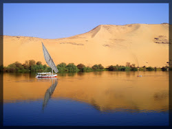 Felouk sur le Nil en Egypte