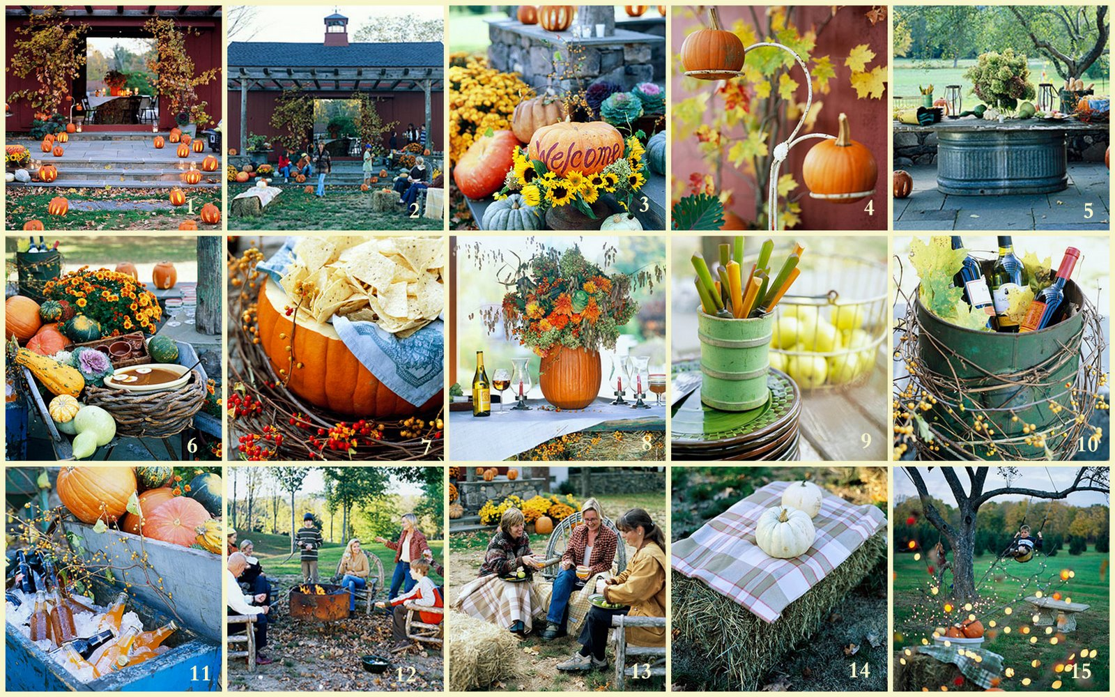 Fall Backyard Party Ideas : Celebrate Fall with these simple garden harvest ideas sure to bring