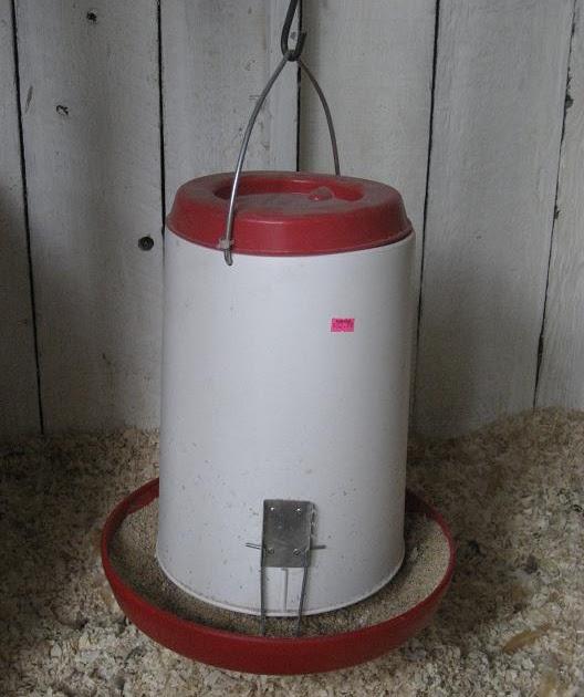 Mucky boots farm kim 39 s homemade chicken feeder for Diy chicken feeder light