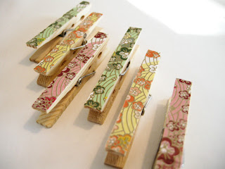 Mod Podge Clips, DIY Clips, Embellished clothes pins, DIY Clothes pins