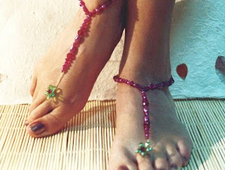 DIY jewellery, DIY beading, DIY anklet, beaded anklet